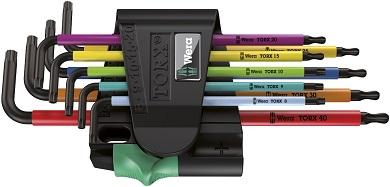 wera Winkelschlüsselsatz 967 SPKL9 BO Multicolour SB, TORX BO Set