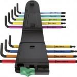 wera Winkelschlüsselsatz 967 SPKL9 BO Multicolour SB, TORX BO Clip